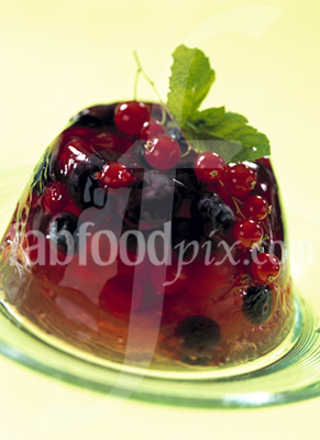 Summer fruit jelly photo