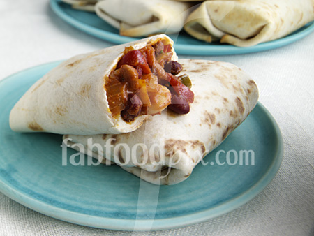 3 bean chil burrito photo