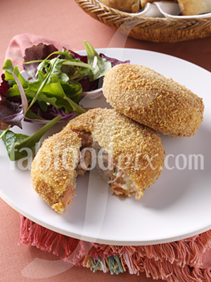 Salmon fishcakes photo