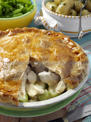 chicken leek pie photo