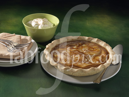 Pumpkin swirl pie photo