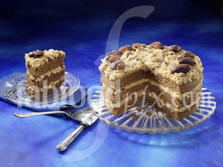 German choc cake photo