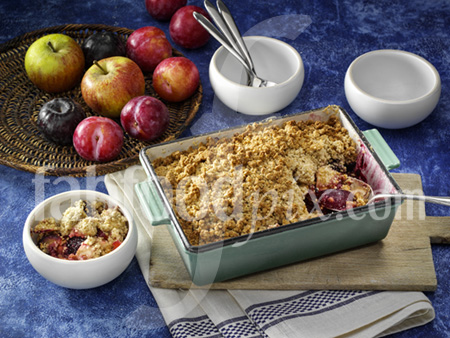 Fruit cobbler photo