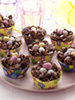 Chocolate easter nests photo