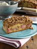 Rhubarb cake photo