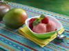 Mango raspberry sorbet photo